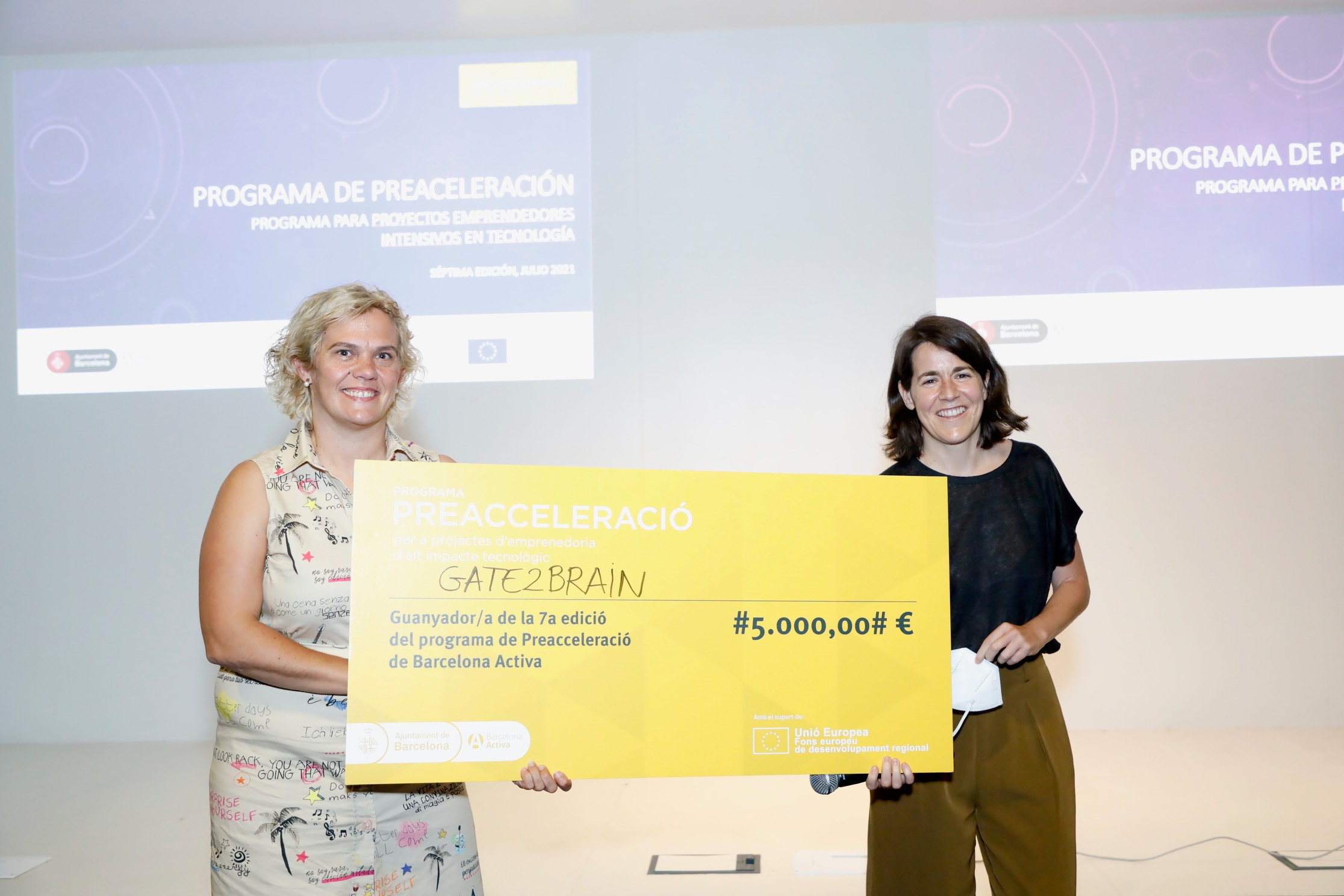 GATE2BRAIN winner of the Barcelona Activa Pre-acceleration competition